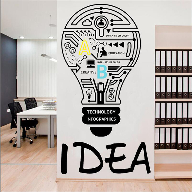 good idea corporate company culture wall sticker creative quotes