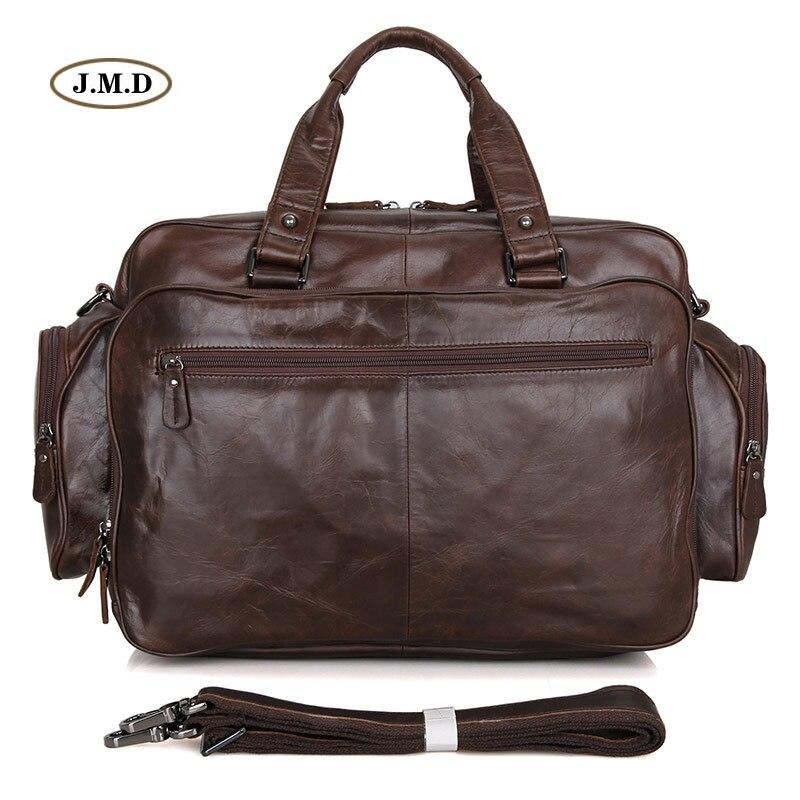 Augus Men's Fashion Genuine Cow Leather Chocolate Classic Style Business Briefcases Shoulder Bag Laptop Handbag 7150Q