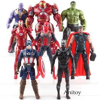 Vingadores Hulk Guerra 3 Infinito Black Panther Thanos Thor Capitão América Spiderman Marvel legends Homem De Ferro Figura PVC brinquedos para menino