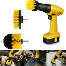2019 Newest Hot Set of 3 Electric Drill Clean Brush Scrub Powered Tire Attachments