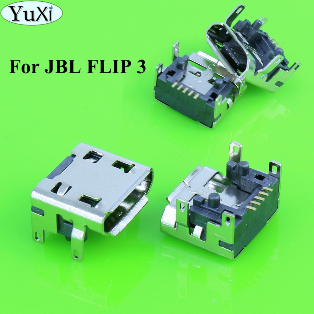 YuXi Replacement for <font><b>JBL</b></font> <font><b>Charge</b></font> <font><b>3</b></font> FLIP <font><b>3</b></font> Bluetooth <font><b>Speaker</b></font> Micro mini USB Charging Port jack socket Connector <font><b>repair</b></font> 5 Pin type image