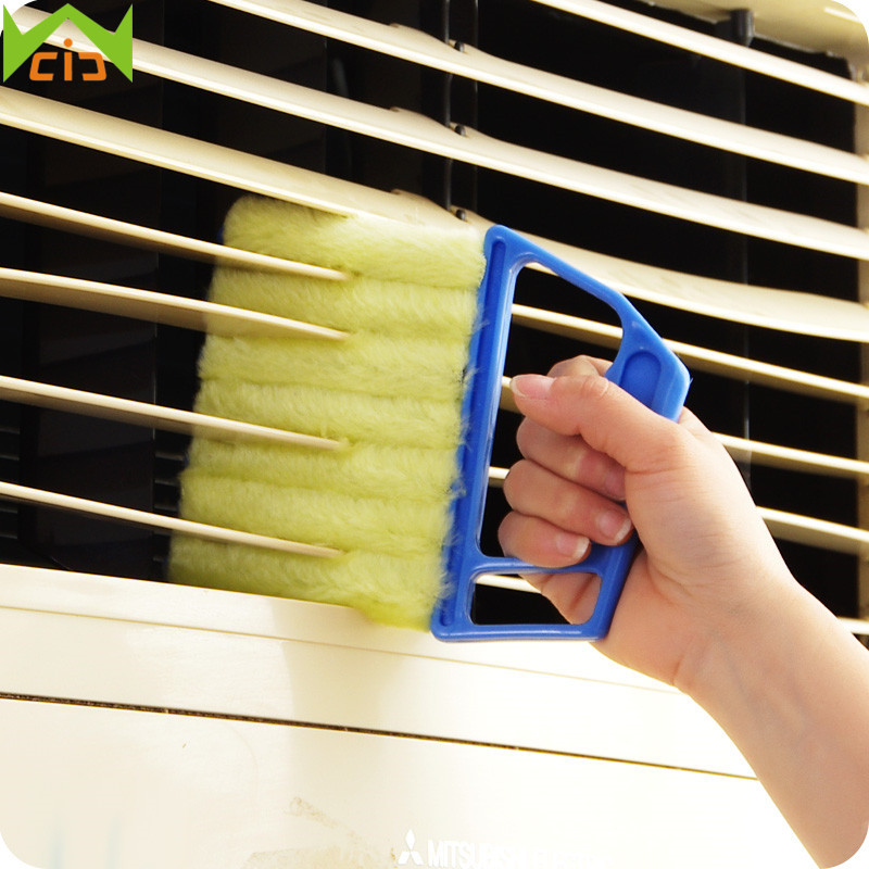 WCIC Plastic Window Cleaner Microfibre Blind Cleaning Brushes Air Conditioner Duster Washable Cleaner Households Cleaning Tools ...
