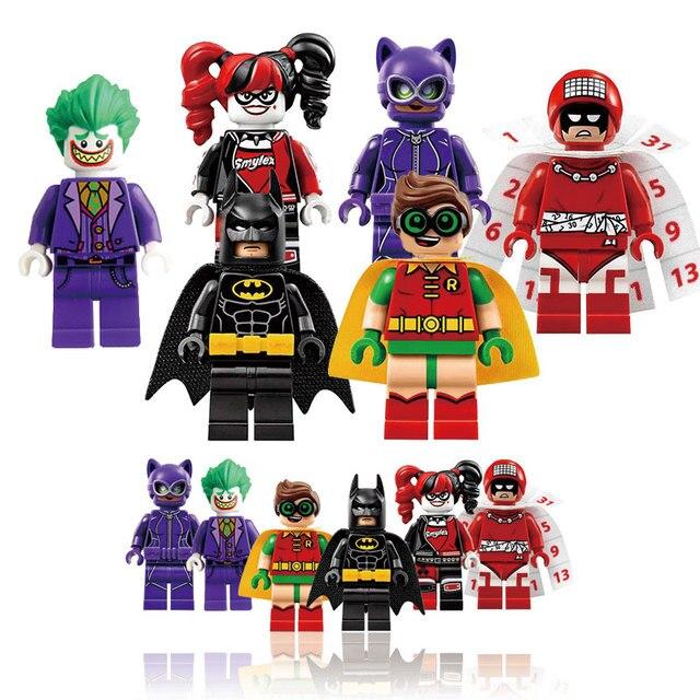 6/pcs DC Супергероев Строительный Блок Фигурку Совместимо С legoes Бэтмен Фильм Звездные войны XMAN Дэдпул Игрушки Для дети