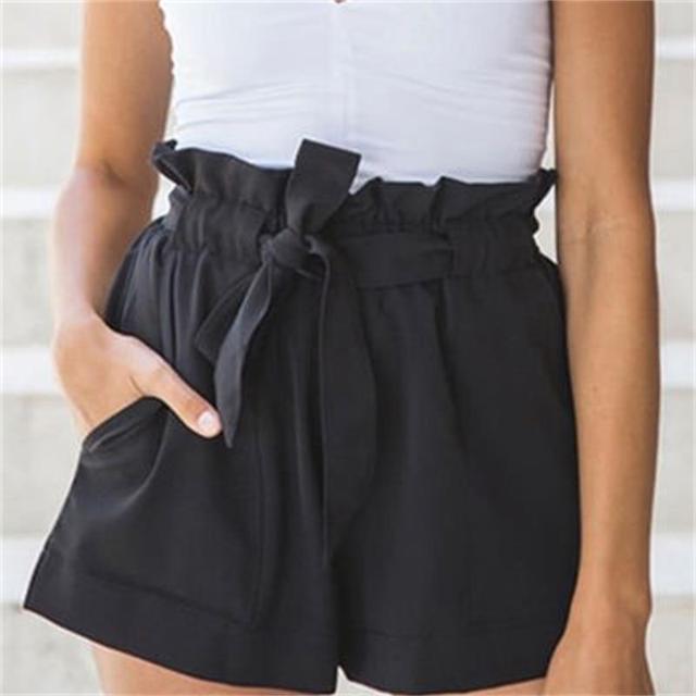 Sexy Hot Shorts Soltos Verão Bandage Bow Tie Casual Shorts de Cintura Alta  Curta Dama Da 8d88c4ee241f2