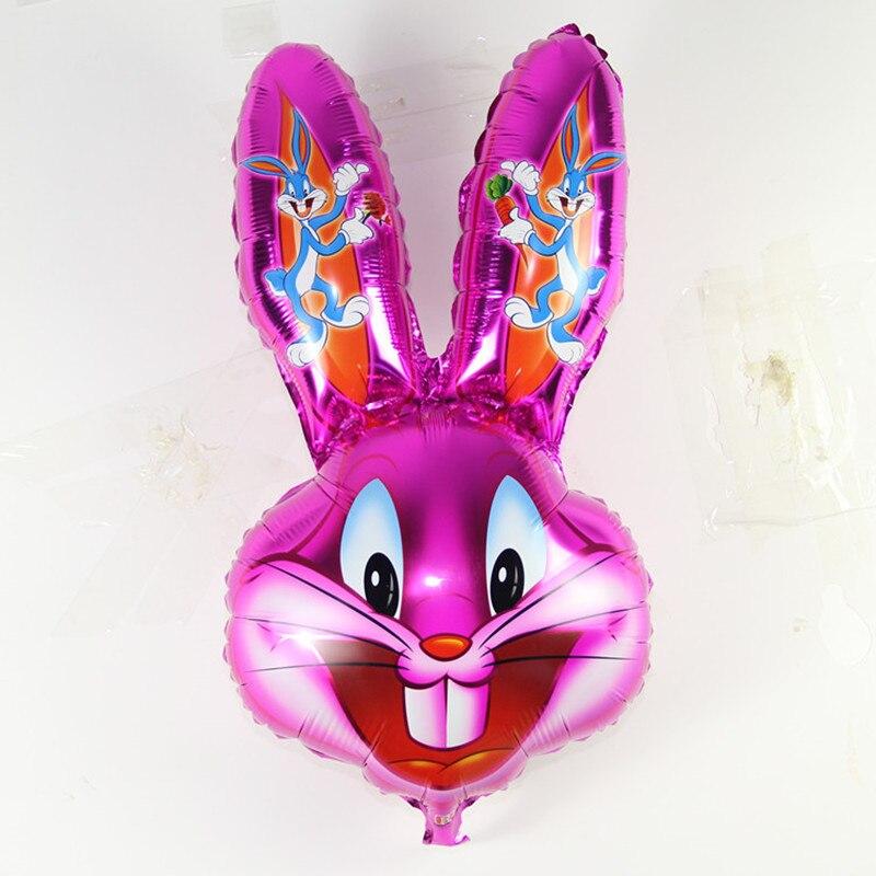 Кролик Багз, голова кролика, фольга, животные, шары, Мультяшные Лони, мелодии, животные, шарики, Детские классические игрушки, пасхальное укр...