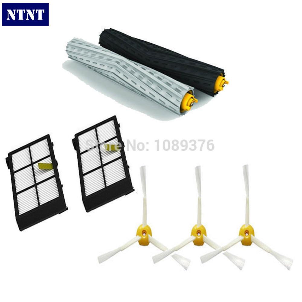 NTNT Free Post New 3 Pcs 3 Armed Brush Debris Extractor Brush & Filters for iRobot Roomba Vacuum 800 Series 880 870 ntnt free shipping new 3 6 brush