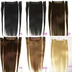 """ZZHAIR 100 г-200 г 16 """"-28"""" Искусственные волосы одинаковой направленности волос 5 шт. набор 9 зажимов в 100% человеческие волосы для наращивания"""