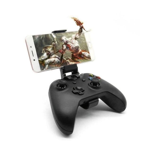 Phone game handgrip clamp stand for xbox one s/slim ones controller/steelseries nimbus gamepad iphone x 8 7 samsung s9 s8 holder
