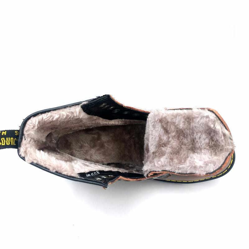 Vancat/2018 г. Новые мужские ботинки из воловьей кожи на осень-зиму теплые плюшевые зимние ботинки на шнуровке мотоциклетные ботильоны мужская обувь