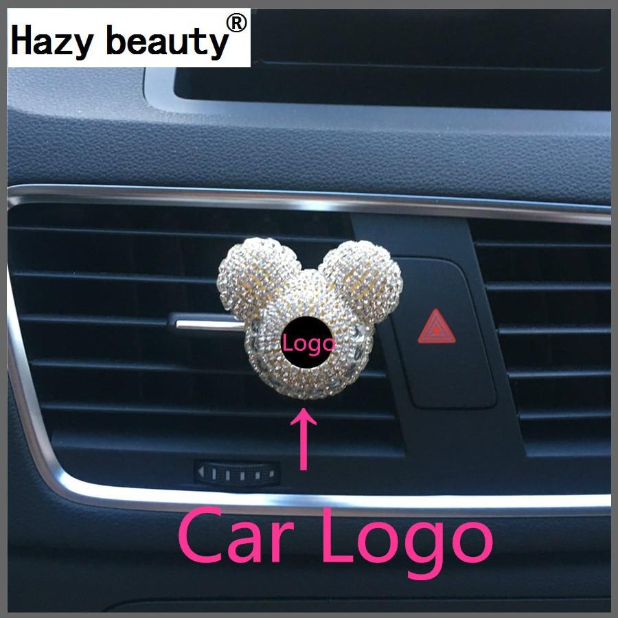 Hazy beauty car logo fashion high grade car perfume air freshener air conditioner air