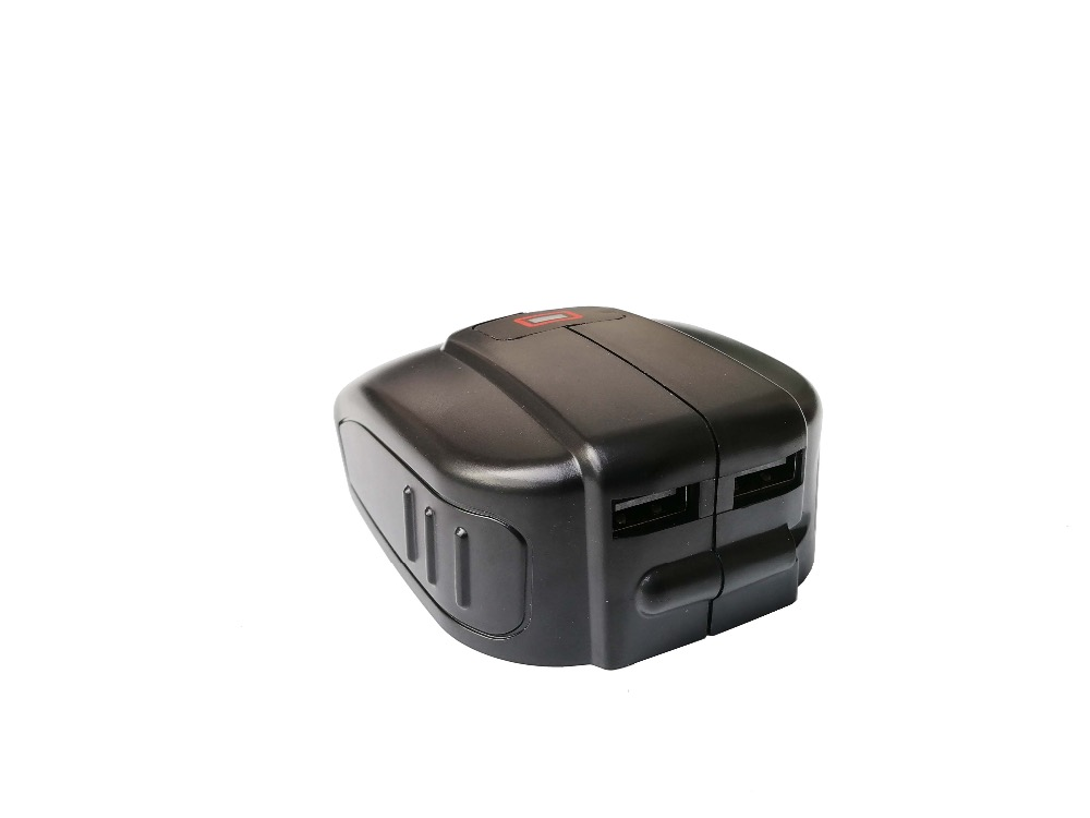 Replacement Dual-USB Power Source  for Bosch 14.4V BAT607 18 V-LI BAT620  Slide Battery USB  Charger power converter replacement for bosch gho 14 4 v gho 14 4vh gli 14 4v 2 607 335 711 bat038 bat040 bat041 bat140 bat159 power tools battery