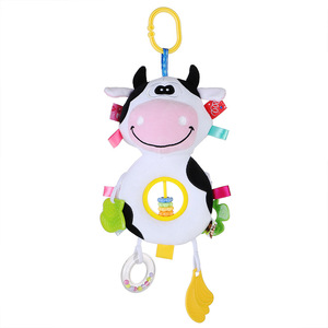 Image 2 - Loozykit תינוק רעשנים צעצועי עגלת תליית רך צעצוע חמוד בעלי החיים בובת תינוק עריסה תלוי פעמונים צעצועי s ממולא רך צעצועים