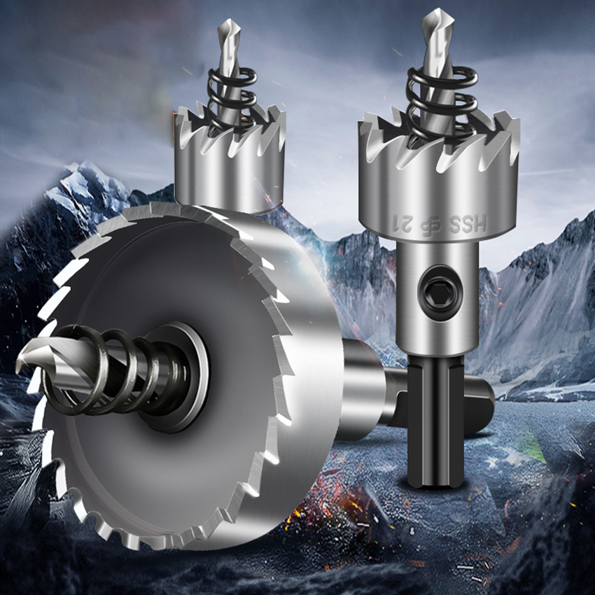 38/40/42/45/48/50/53/55/60/65/70/75/80mm HSS Drill Bit Holesaw Hole Saw Cutter Drilling For Metal Stainless Steel Alloy Cutting