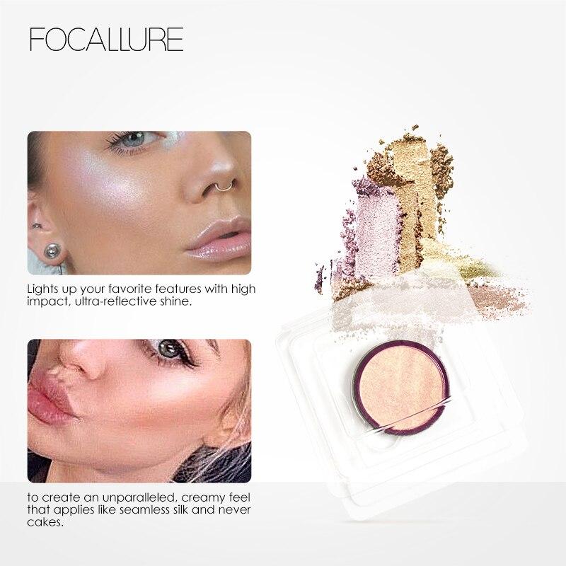 Focallure 5Colors Highlighter Powder Palette Shimmer Highlighter Powder Makeup Palette Face Base Makeup Illuminator Maquiagem in Bronzers Highlighters from Beauty Health