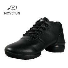 movefun Spring and Autumn Dance Shoes Women Jazz Boots New Arrival Square Dance Shoes Mother Shoes Black Dancing Sneakers #87