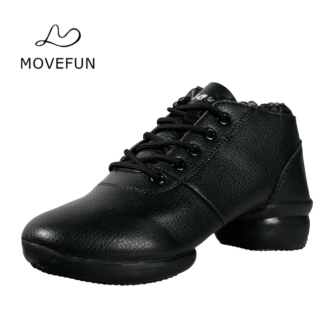 Movefun Spring And Autumn Dance Shoes Women Jazz Boots New Arrival