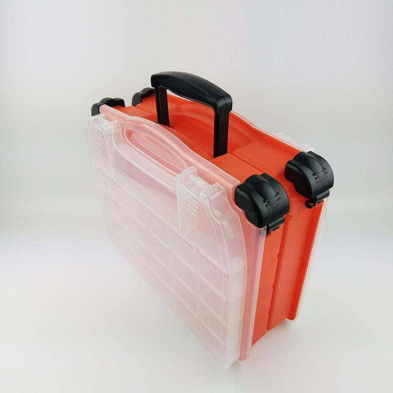 Multifonctionnel haute résistance 38*17*32 cm Transparent Visible en plastique boîte de leurre de pêche boîte de matériel de pêche boîtes 3 couleurs - 6