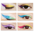 LANBENA Rainbow Party Fashion Wing Eye liner Eye Shadow Stickers Makeup Glitter Makeup Brushes Tools Eye Liner 6 Pairs Trial