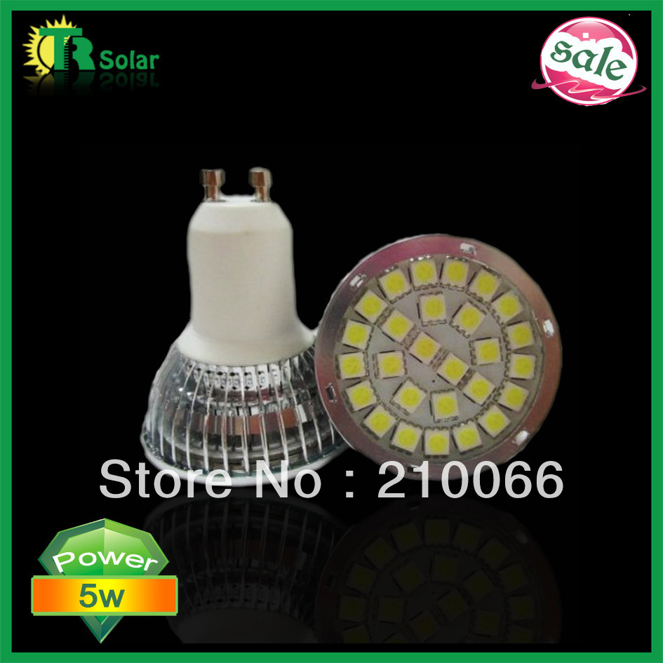 LED spot light 5w SMD5050 24pcs LEDs  GU10/MR16/E27/E14 led bulb Flashlighting CE Rohs certificate 20pcs/lot Free shipping