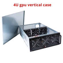 Crypto coin bitcoin mining rig frame ETH LTC chassis USB miner PC case sever rack holder GPU cards gtx 1080 P106 R9 370 RX480 8 gpu mining rig stackable case 5 fans open air frame eth zec bitcoin new