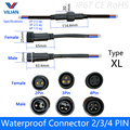 5 pairs Waterproof connector Current 8A/12A/20A 2 pin / 3 pin / 4 pin with wire cable IP67 female male plug 1.0/1.5/2.5 (mm2)
