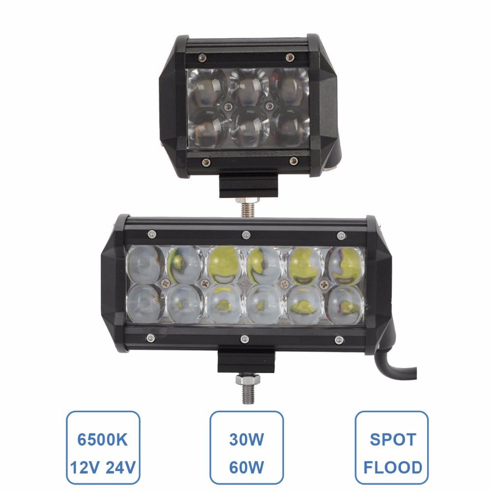 30 watt 60 watt LED ARBEIT LICHT BAR OFFROAD 12 v 24 v FAHREN SCHEINWERFER AUTO SUV LKW WAGON PICKUP 4X4 AWD MOTORRAD TRAKTOR 4WD NEBEL LAMPE