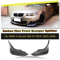 Автомобильный передний бампер для губ разветвители фартуки спойлер для BMW E60 M Tech M Sport бампер только 2006 2010 углеродного волокна/FRP