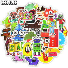 50 PCS Doodle Stickers Funny Little Monster Robot Decal Sticker Gift Toys for Children DIY Laptop Fridge Suitcase Skateboard Car(China)
