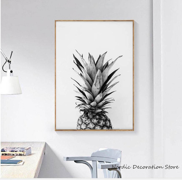 Nordic Pineapple Painting Poster Canvas Art Cuadros Decoracion ...