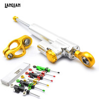 Universal Motorcycle Damper Steering Stabilizer Moto Linear Safety Control For BMW K1200R Sport R1200S R1200S R1150RT ABS F650CS