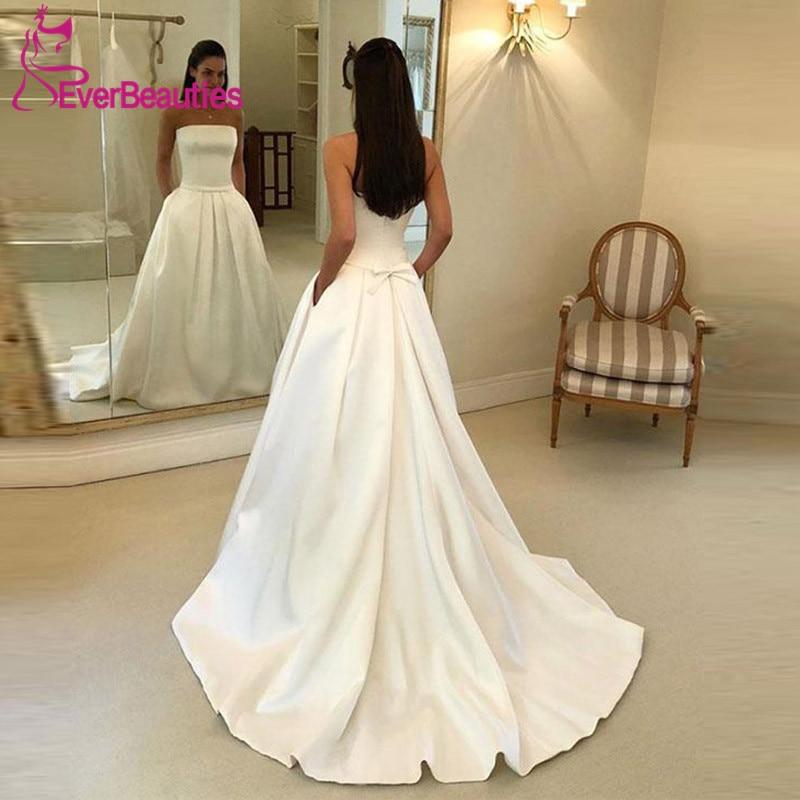Simple White Wedding Gown: Vestido De Noiva Wedding Dress 2019 Sweetheart Simple
