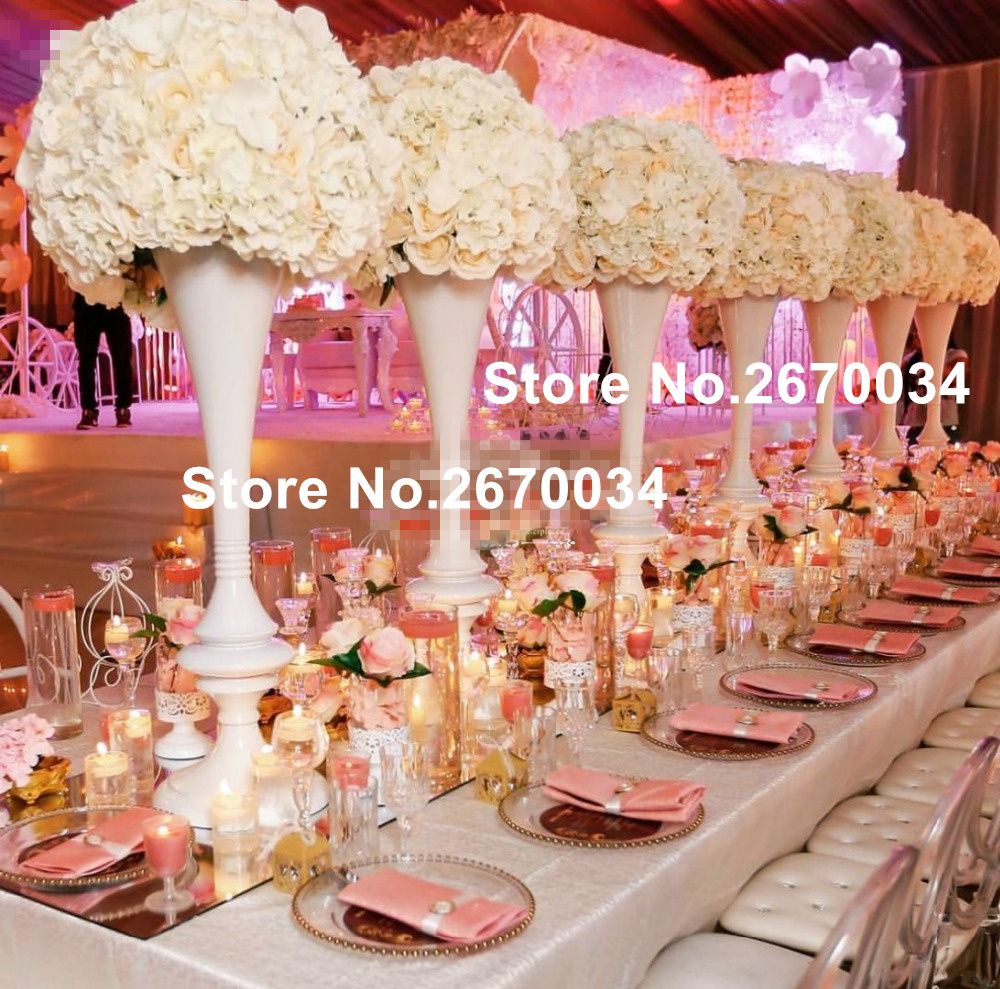 tall and large Flowers Vases Candle Holders Road Lead Table ...