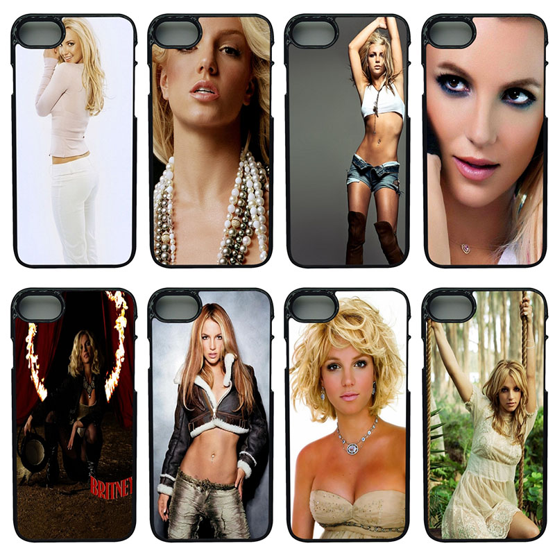Britney Spears Mode Cell Phone Case Hard Plastic Anti-knock Cover for iphone 8 7 6 6S PLUS X 5S 5C 5 SE iPod Touch 4 5 6 Shell