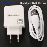 Blackview BV9000 Pro Cargador con cable Tpye-C 1 M Original Blackview BV8000 Pro EU Adaptador estándar de Europa Para BV8000 P2 Lite P2