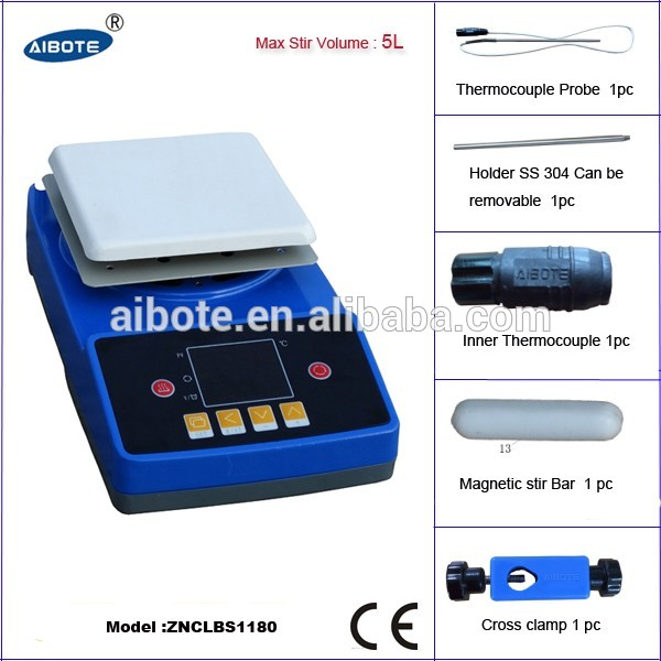Free shipping, 5L Intelligent Ceramic Hotplate stirrer,0-350 degree