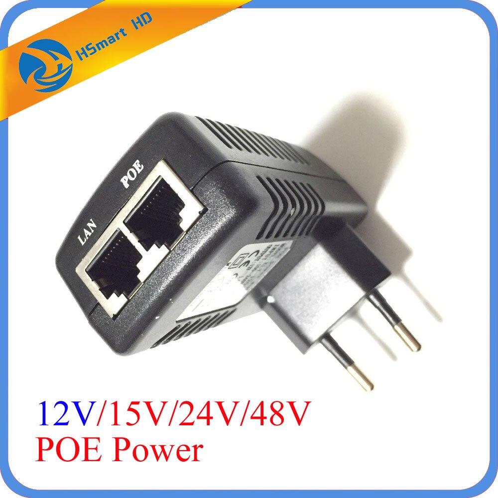 12 V/1A PoE Injecteur Power Over Ethernet Adaptateur Prise Murale pin4/5 (+), 7/8 (-) Compatible pour IP caméra IP Téléphones Alimentation