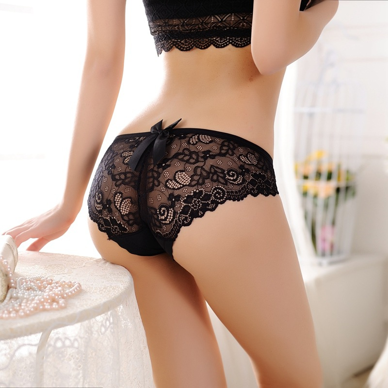 asian Black lace panties