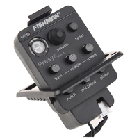 Acoustic Guitar Pickup And Preamp Built In Tuner And EQ Black