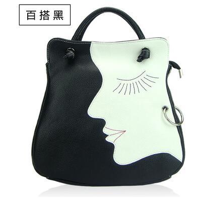 ФОТО 2016 new tide female fashion colours head layer cowhide face one shoulder handbag