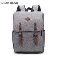 DIDA BEAR Men 15 Inch Laptop Backpacks Bag For Teenager Girls Boys Large Capacity Nylon Unisex