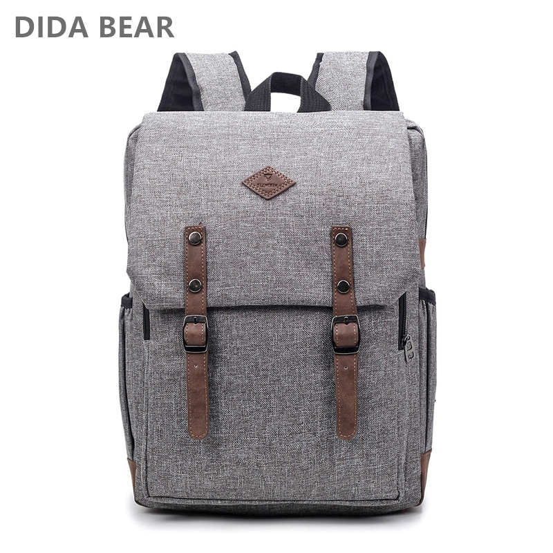 DIDA BEAR Men 15 inch Laptop Backpacks Bag For Teenager Girls Boys Large Capacity Nylon Unisex Computer Backpack Women Mochilas 2017 xqxa brand 15 6 inch laptop bag backpack men large capacity oxford compact men s 17inch backpacks unisex women bagpack