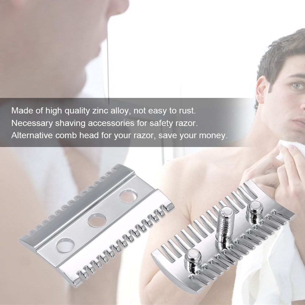Double Edge Shaving Safety Razor Open Comb Head Male Safety Razor Head Shaving Tool Barber Home Use Beard Hair Shaving Tool