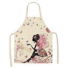 1 шт фартуки для кухни с цветочным принтом бабочки