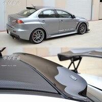 Для Mitsubishi Lancer EX EVO 2008 2009 2010 2011 2012 2013 2014 2015 ABS пластик Неокрашенный праймеры цвет задний багажник крыло спойлер