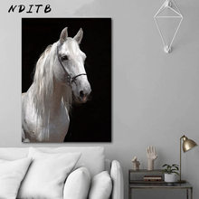 Zebra Horse Animal Decorative Picture Black White Poster Nordic Wall Art Canvas Print Simple Modern Home Living Room Decoration(China)