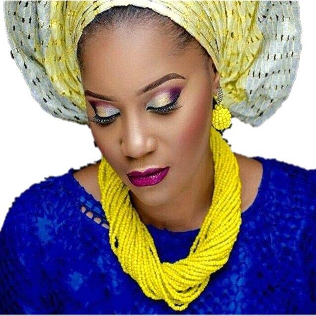 4UJewelry Bridal Wedding Jewelry Crystal Yellow African beads Jewelry Sets With Bracelet & Earrings Dubai Jewellery Set 2018 nEW