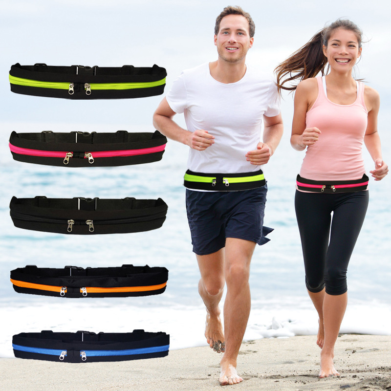 Dual Pocket Running Belt Mini Fanny Pack For Women Men Convenient Waist Pack Travel Multifunctional Waterproof Phone Belt Bag T8