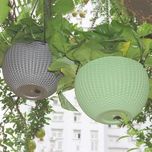 Image 5 - 籐 Waven バスケット革新的な多肉植物ぶら下げポット花バルコニーガーデン植物バスケット花植物装飾