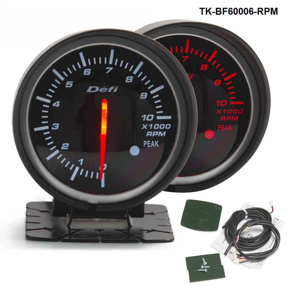 60mm DF BF Car Tacho Meter Auto Tachometer RPM Gauge Red and White Light For FORD Mustang 4.6L TK-BF60006-RPM