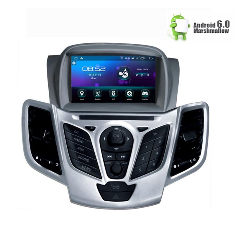 7 Android 6.0 DVD de Voiture Stéréo Pour Fiesta 2013 2014 2015 2016 Auto Radio GPS Navigation Audio Vidéo DAB + WiFi 1 GB RAM